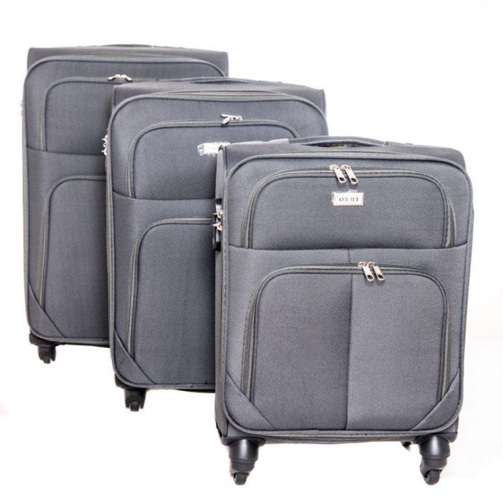 Bitburg puhafalú bőrönd szett sötétszürke