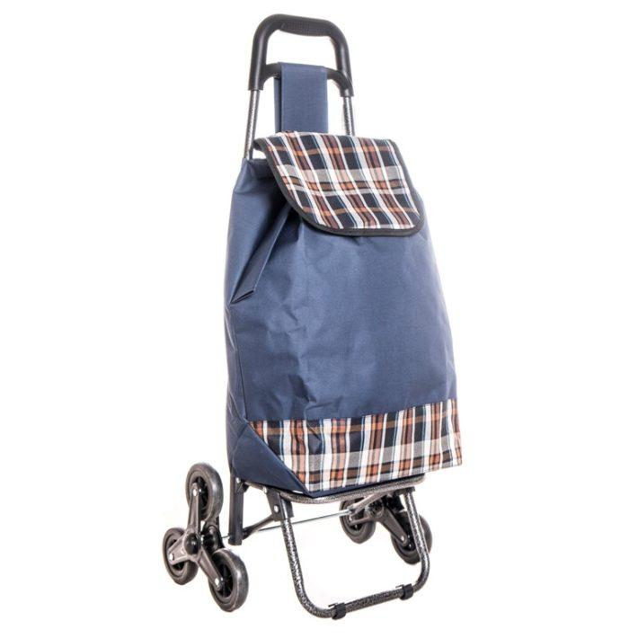 Brake kék, barna kockás lépcsőjáró bevásárlókocsi