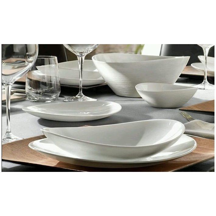 Fehér étkészlet Design tányér 18 részes