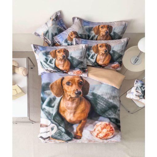 Jezsámen 3d kutya cica ágyneműhuzat garnitúra 7 részes pamut