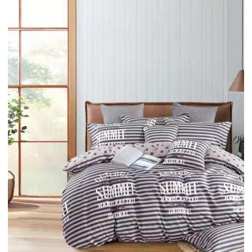Meggi csíkos pamut ágyneműhuzat 7 részes kék