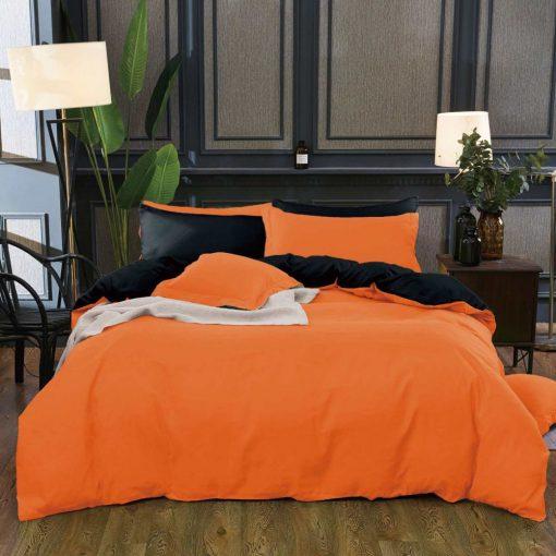 Relax 7 részes Narancs Pamut Ágyneműhuzat garnitúra 7 részes