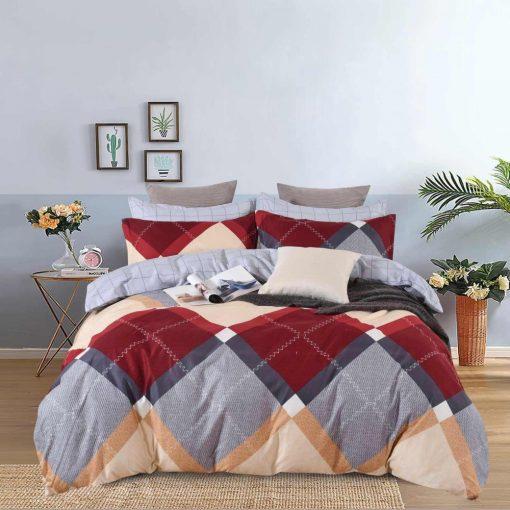 Szakállas Télapó Karácsonyi Ágynemű Garnitúra 7 részes