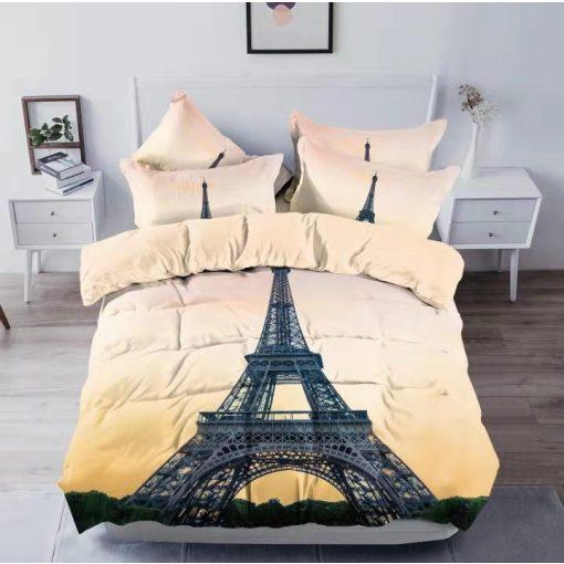 Szimbólum 3D Eiffel Torony Ágyneműhuzat Párizs 3 részes pamut
